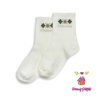 【annypepe】兒童純棉短襪-綠卡奇菱格款
