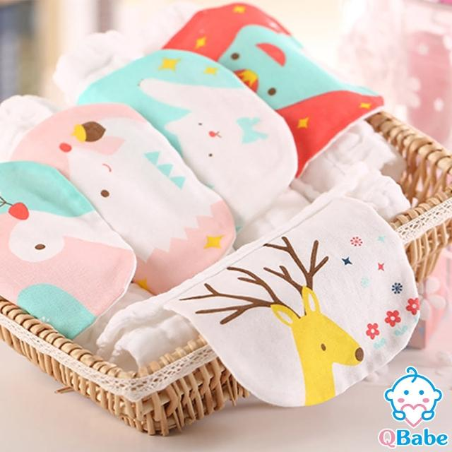【QBabe】純棉六層水洗紗 寶寶吸汗背巾 23x33(9款)
