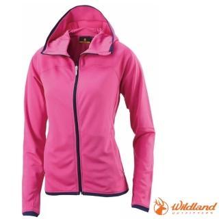 【荒野 WildLand】女款 涼感排汗抗UV外套.輕薄外套.休閒外套/輕量透氣.吸濕排汗(0A11693 桃紅)