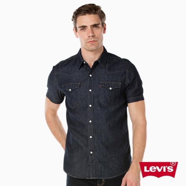 【Levis】WESTERN 短袖牛仔襯衫 / 原色Rinse(2197800260)