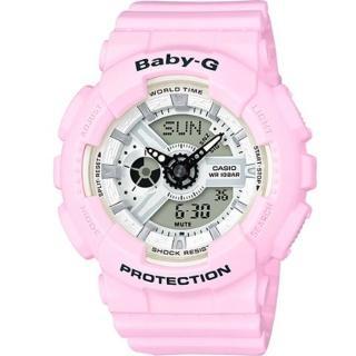 【CASIO 卡西歐】BABY-G 夏季海洋繽紛運動錶(BA-110BE-4)