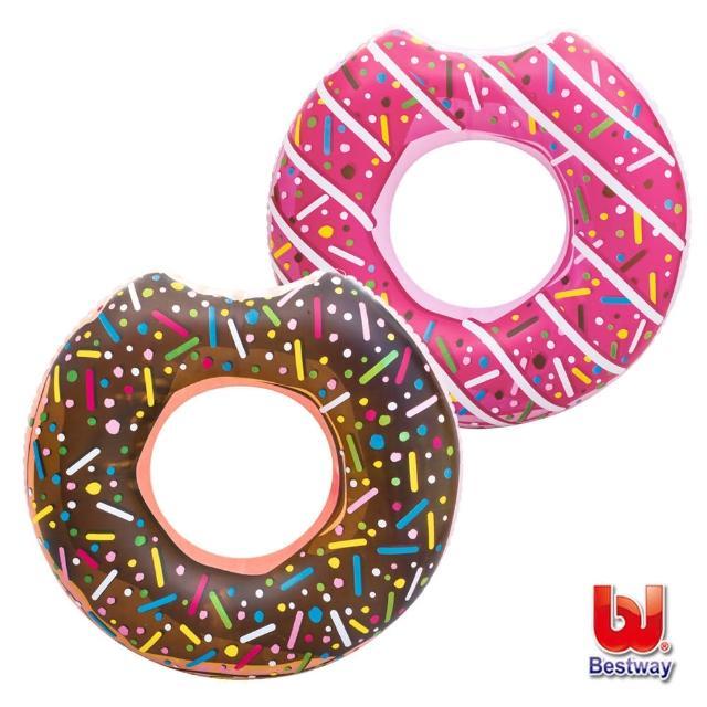 【酷博士】Bestway。42吋甜甜圈充氣泳圈-巧克力/草莓-隨機出貨