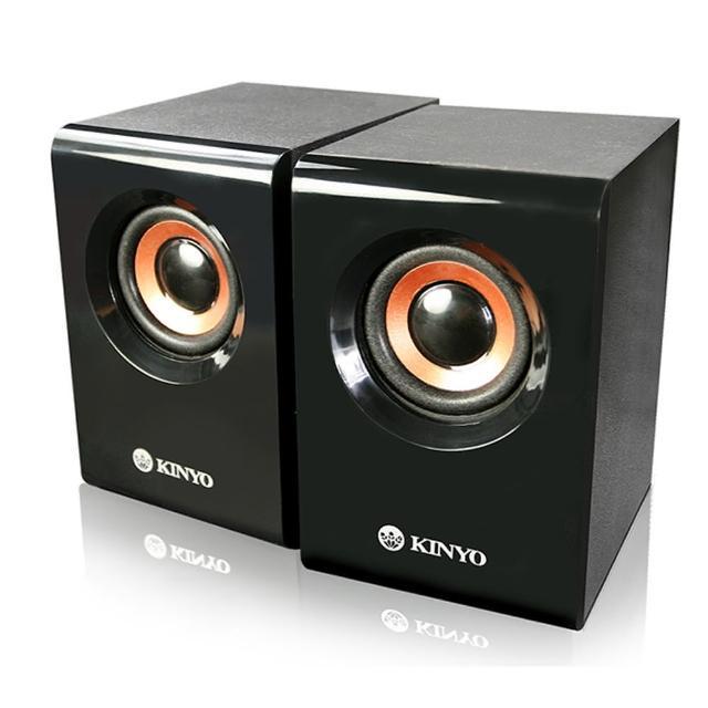 【KINYO】USB木質立體擴大喇叭(US-176)