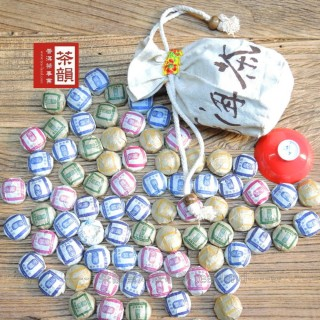 【茶韻普洱茶事業】嚴選迷你沱系列250g六種口味任選可愛透氣麻袋版完整茶葉(上班最佳首選方便的好選擇)