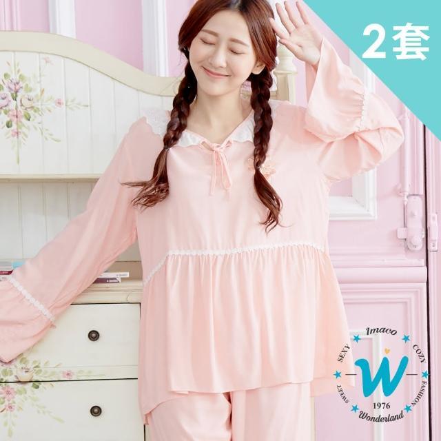 【Wonderland】溫柔婉約100%縲縈居家休閒衣褲2套組