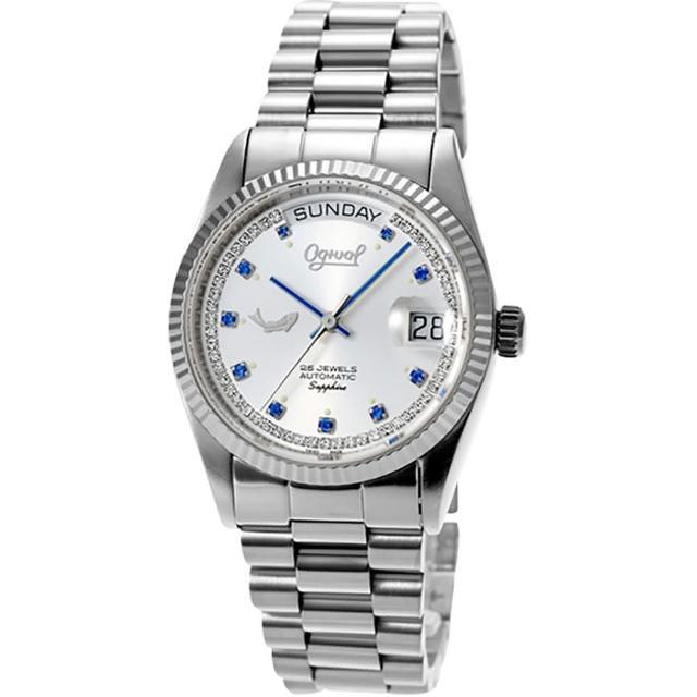 【Ogival】愛其華恆動經典腕錶-藍星(30326MW)