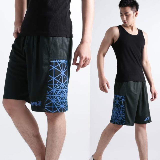【遊遍天下】MIT台灣製男款時尚休閒運動短褲P121A黑/藍(M-2L)