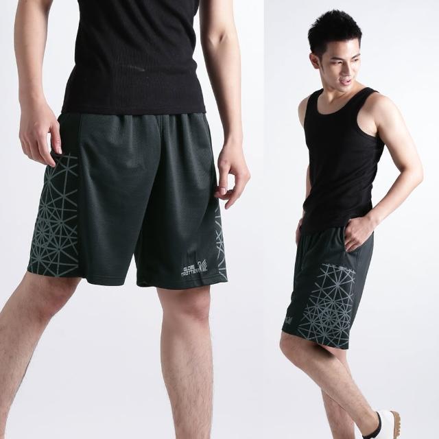 【遊遍天下】MIT台灣製男款時尚休閒運動短褲P121A黑/灰(M-2L)