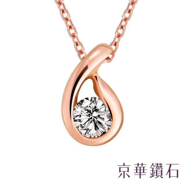 【京華鑽石】凝視 0.05克拉 10K鑽石項鍊