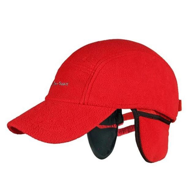 【PUSH!戶外用品】防寒保暖防風透氣護耳抓絨帽鴨舌帽(二色可選)