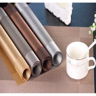 【巴芙洛】歐式古典百貨飯店愛用PVC隔熱防水餐墊-6片一組(6片一組餐墊/桌墊/隔熱墊/防水)