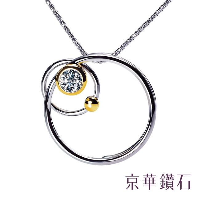 【京華鑽石】守護  0.10克拉 18K鑽石項鍊墜飾