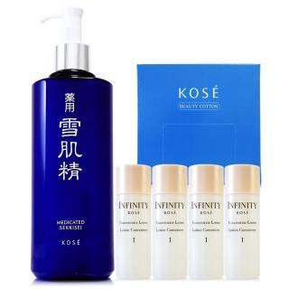 【KOSE高絲】雪肌精化妝水500ml- 限量版 - 贈雪肌精乳液33ml*3(正統公司貨)