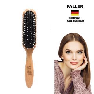 【德國FALLER芙樂梳具刷具】FSC櫸木長型黑豚鬃柔珠氣墊梳(讓煩惱絲變身美麗髮絲)