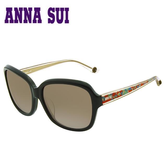 Anna Sui 日本安娜蘇波希米亞復古印花太陽眼鏡(黑黃)AS940-001