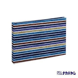 【日本 Nakabayashi】自黏相本 麻布系列 條紋相本(藍)