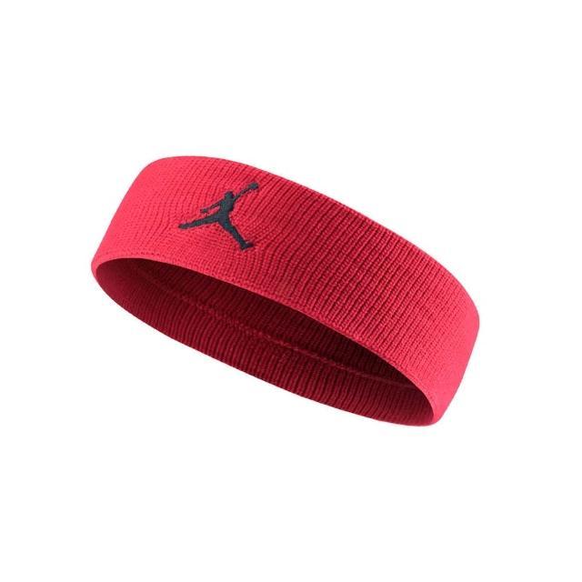 【NIKE】JORDAN JUMPMAN 單色頭帶-飛人喬登 籃球 NBA 一條入(紅黑)