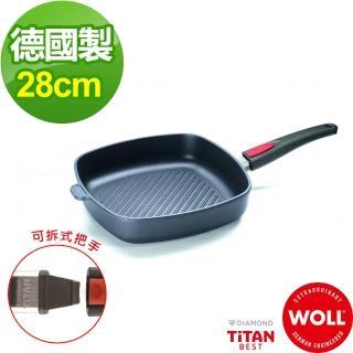 【德國 WOLL】Titan Best鈦鑽石不沾系列28cm 方型牛排鍋