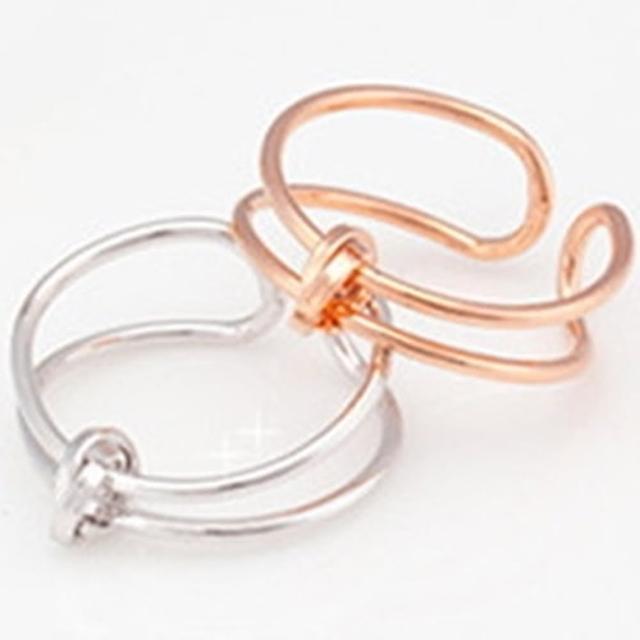 【米蘭精品】戒指流行銀飾品(環繞造型獨特迷人流行母親節生日情人節禮物2色73ae38)