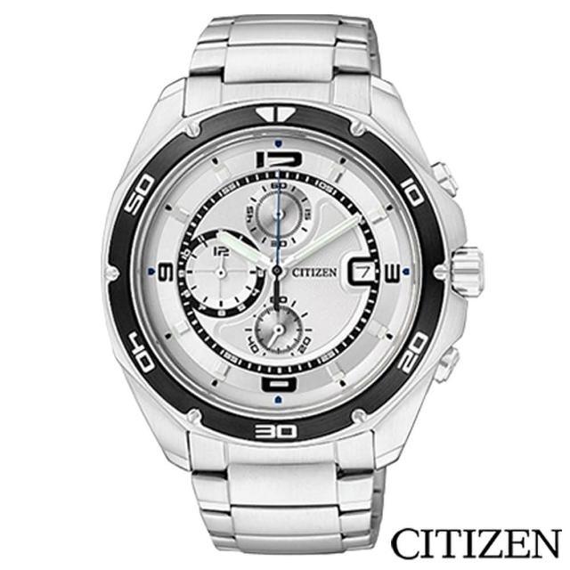 【CITIZEN星辰】極限運動三眼計時碼表男仕手錶(AN3440-53A)
