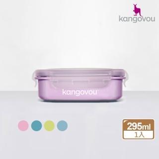 【美國 Kangovou 小袋鼠不鏽鋼安全兒童餐具】寶寶餐盒