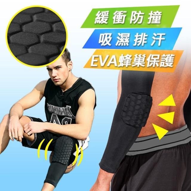 【Un-Sport高機能】EVA蜂巢防衝擊吸排護具套組(護膝+護臂)(籃球/路跑/自行車)