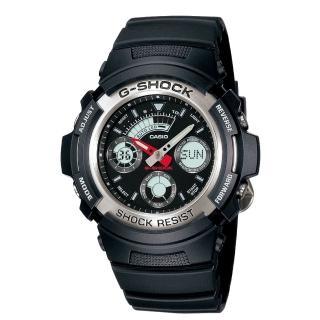【CASIO】G-SHOCK 實用運動風雙顯指針錶(AW-590-1A)