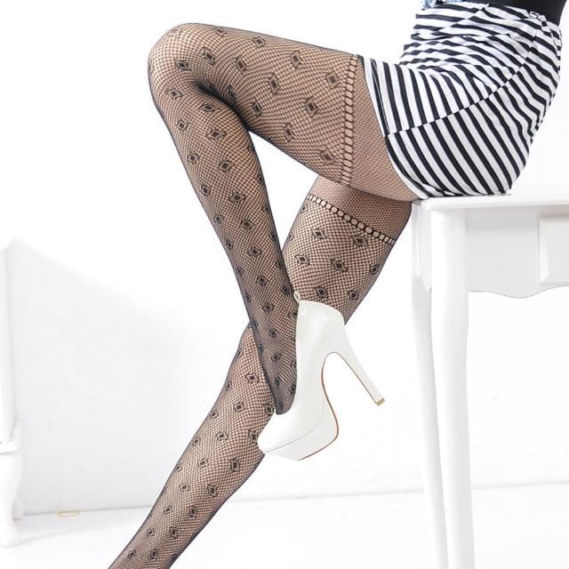 【Lady c.c.】大腿比例剪裁圖騰造型褲襪