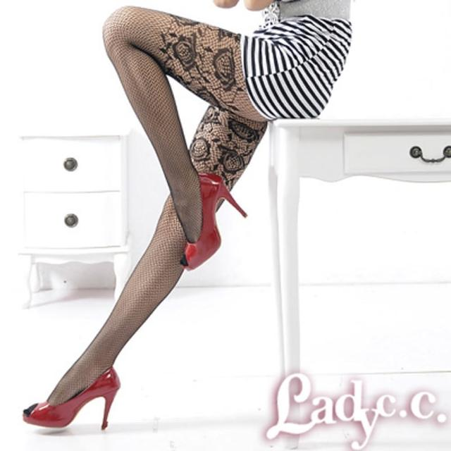 【Lady c.c.】設計樣花低調性感造型褲襪