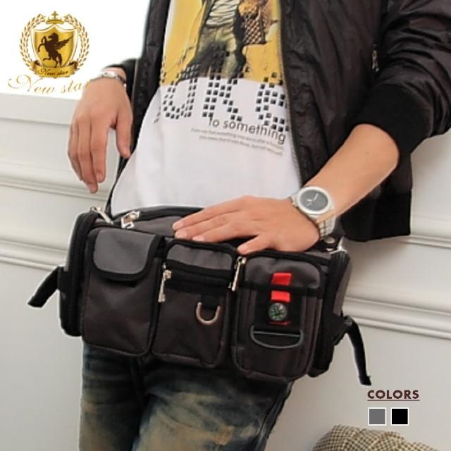 【NEW STAR】潮流多口袋腰包斜背包 BW01