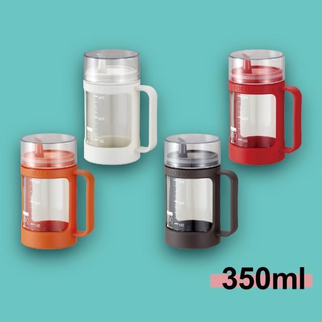 【ASVEL】多彩玻璃調味油罐-350ml(廚房收納 料理烘培 密封保鮮真空 調味瓶 酒醋)