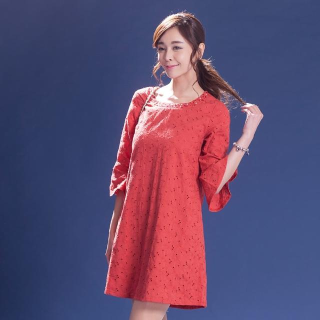 L'LAR棉質威尼斯編織蕾絲洋裝組