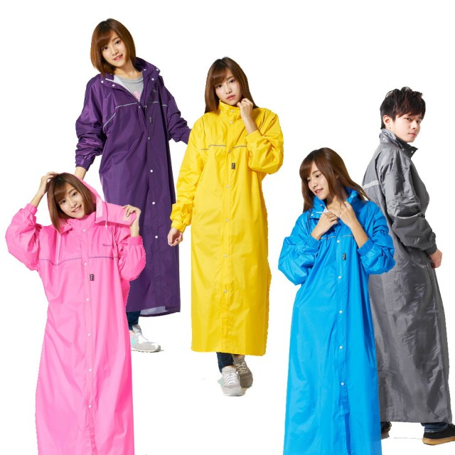 【雙龍牌】台灣素材。超輕量日系極簡前開式雨衣(EU4074)