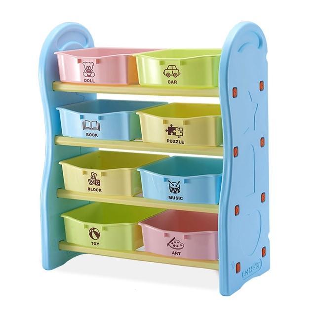 【IDEA】歐規安全兒童四層玩具收納架-小(小組)