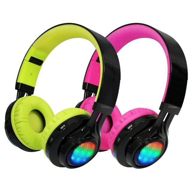 AB-005 全罩式LED炫光無線藍牙耳機麥克風(支援TF插卡/AUX音頻輸入/可聽廣播)