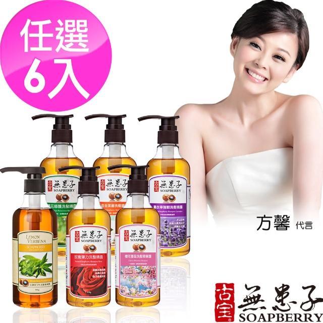 【古寶無患子】清爽潔淨洗髮精露450g6件組(香味6款任選)
