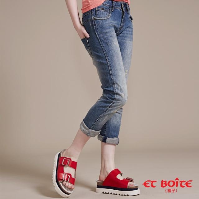 【ET BOiTE 箱子】3D立體修飾男友褲