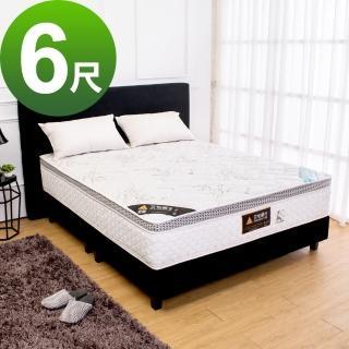 【Bernice】頂級天絲環保綠能乳膠獨立筒床墊-適中偏硬(6尺加大雙人)
