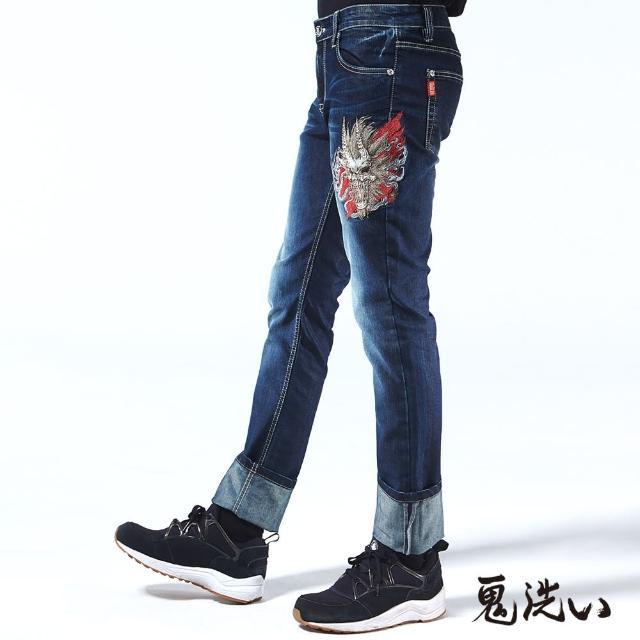 【BLUEWAY-鬼洗】雲煙爆裂鬼頭低腰微彈直筒褲
