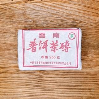 【茶韻普洱茶事業】九0年代珍藏老熟磚茶棗香 兩入超值組(附茶樣20g.收藏盒.茶針x1)