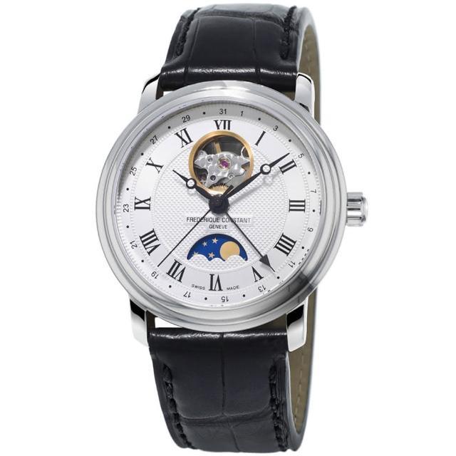 【CONSTANT】康斯登 百年典雅月相開心機械腕錶(FC-335MC4P6)