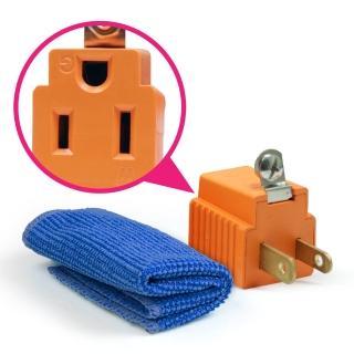 安規認證 三轉二電源轉接插頭(加贈超纖清潔擦拭布)
