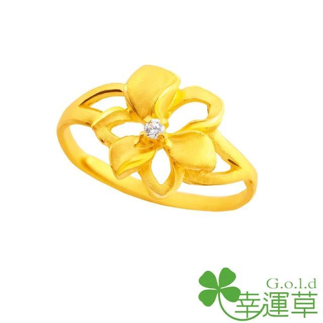 【幸運草clover gold】槴子花開 鋯石+黃金 女戒