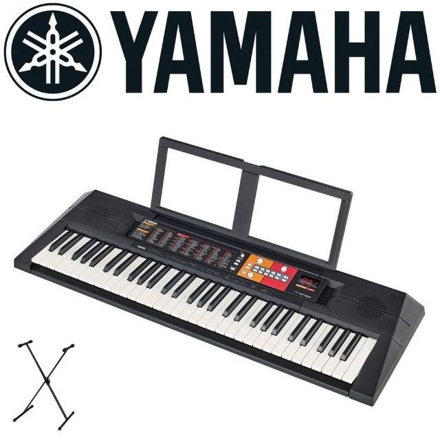 【YAMAHA 山葉電子琴】61鍵最簡易的入門款學習機種 / 含琴架 / 公司貨(PSR-F51)