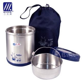 【三光牌】蘇香雙層真空不鏽鋼保溫飯盒/食物罐 0.85L(顏色隨機)