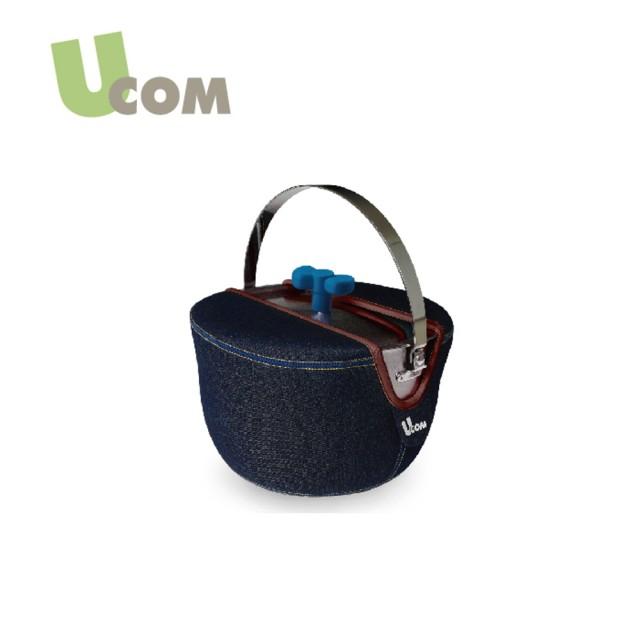 【U.COM】牛仔系列防溢提鍋16CM(附提袋)