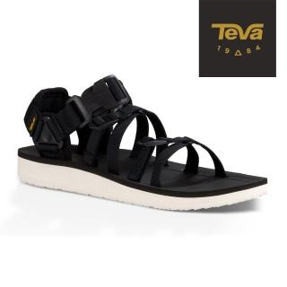 【TEVA】女 Alp 經典設計織帶涼鞋/雨鞋/水鞋(黑色-TV1015182BLK)