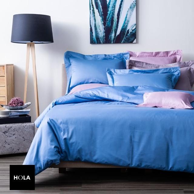 【HOLA】HOLA home 托斯卡床包雙人 蔚藍