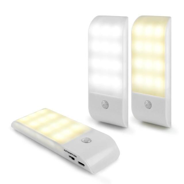 USB充電式 迷你智能LED人體感應照明燈(LI-10)