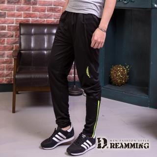 【Dreamming】美式簡約拼接超彈力運動長褲(共二色)